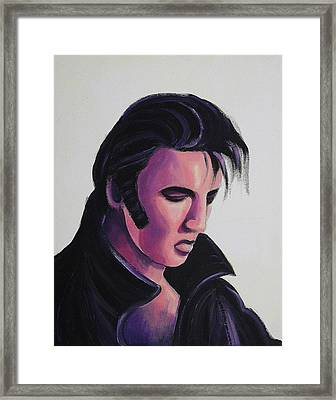 Elvis Framed Print by Suzanne  Marie Leclair