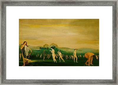 Elysian Fields Framed Print by Arthur Bowen Davies