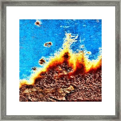 Emblaze Framed Print by Tom Druin