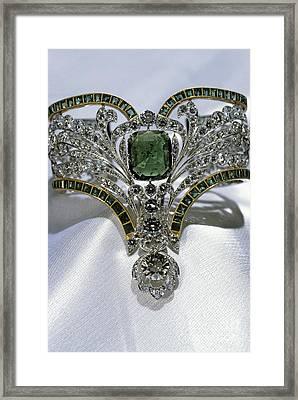Emerald And Diamond Bracelet Framed Print by RIA Novosti