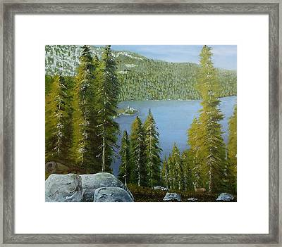 Emerald Bay - Lake Tahoe Framed Print
