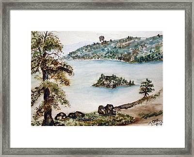 Emerald Bay Lake Tahoe Framed Print by Tammera Malicki-Wong
