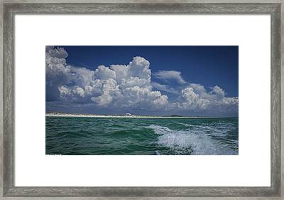 Emerald Coast 2 Framed Print by Debra Forand