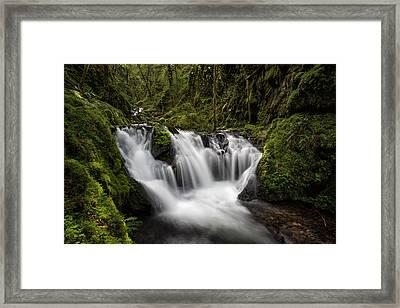 Emerald Falls Framed Print by Brian Bonham