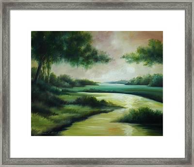 Emerald Forest Framed Print