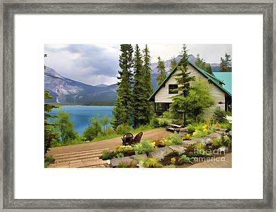 Emerald Lake Yoho National Park Framed Print