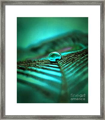 Emerald Peacock  Framed Print