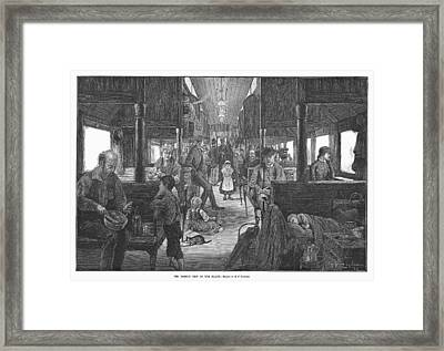 Emigrant Coach Car, 1886 Framed Print