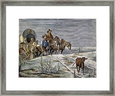 Emigrants, 1874 Framed Print