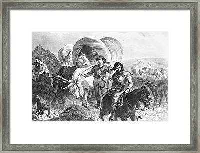 Emigrants To West, 1874 Framed Print