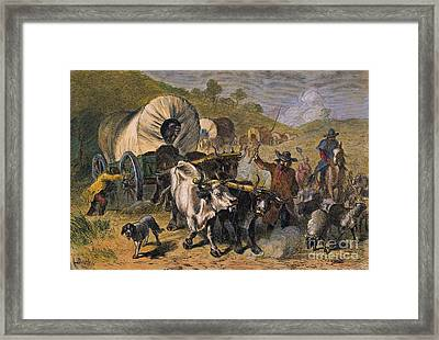 Emigrants To West, 19th C Framed Print