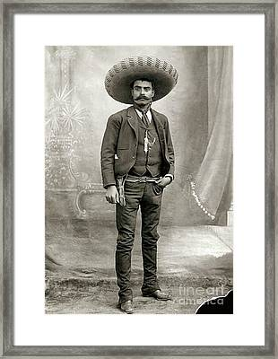 Emiliano Zapata Framed Print by Pg Reproductions