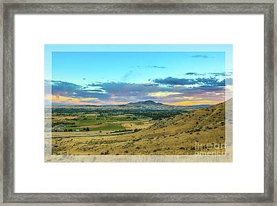 Emmett Valley Framed Print