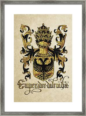 Emperor Of Germany Coat Of Arms - Livro Do Armeiro-mor Framed Print by Serge Averbukh