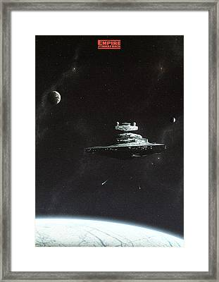 Empire Strikes Back Framed Print by Colin Morella