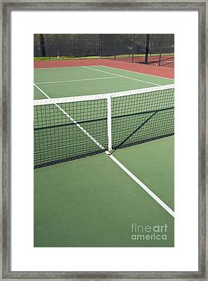 Empty Tennis Court Framed Print by Thom Gourley/Flatbread Images, LLC
