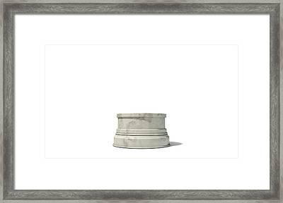Empty Trophy Base Framed Print by Allan Swart