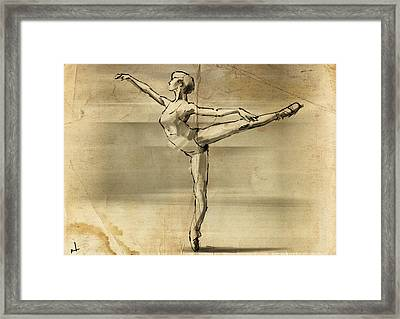 En Pointe Framed Print by H James Hoff
