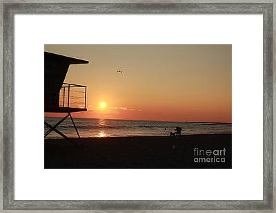 End Of The Day Framed Print by Kim Pascu