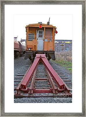 End Of The Line Framed Print by Rick  Monyahan