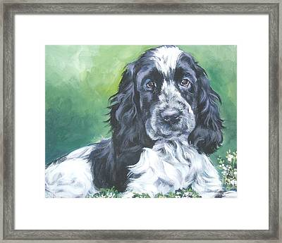 English Cocker Spaniel Framed Print by Lee Ann Shepard