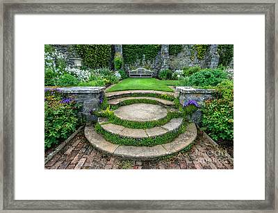 English Garden Framed Print by Adrian Evans