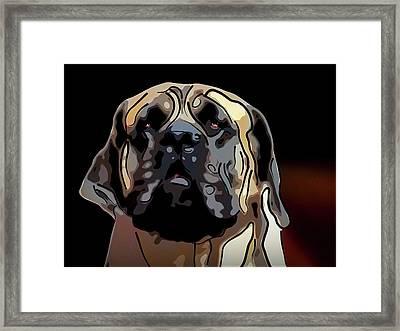 English Mastiff Framed Print by Alexey Bazhan