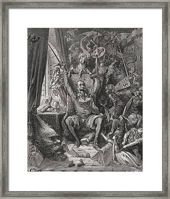 Engraving By Gustave Dore 1832-1883 Framed Print by Vintage Design Pics