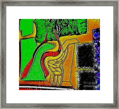 Enjoy The Fact That People Talk About You Framed Print by Contemporary Luxury Fine Art