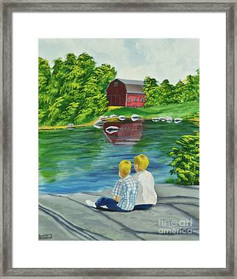 Enjoying A Country Day Framed Print by Charlotte Blanchard