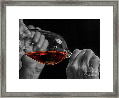 Enjoying Wine Framed Print
