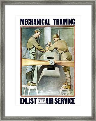Mechanical Training - Enlist In The Air Service Framed Print