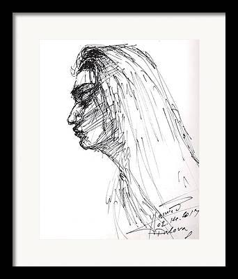 Girl Profile Framed Prints