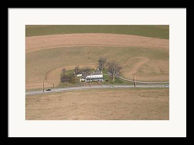 Raiding Crops. Aerial Framed Prints