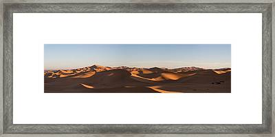 Erg Chebbi Dunes Just After Sunrise Framed Print by Panoramic Images