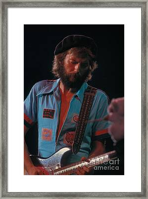 Eric Clapton Framed Print by Marc Bittan