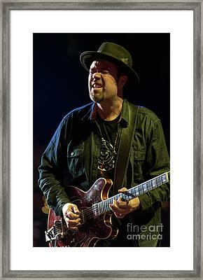 Eric Krasno Framed Print by David Oppenheimer