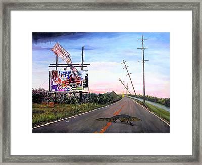 Escape Artist Framed Print