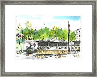 Esso Club Clemson Framed Print