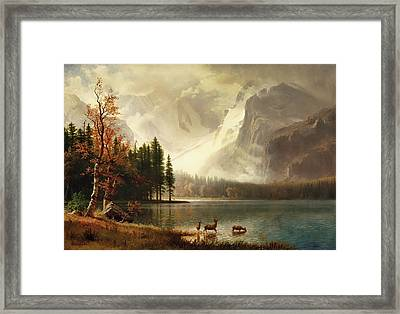 Estes Park, Colorado, Whyte's Lake Framed Print by Albert Bierstadt