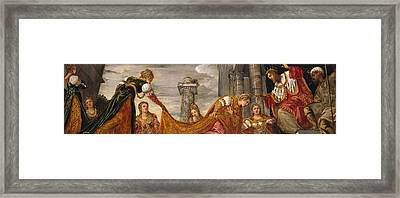 Esther And Ahasuerus Framed Print by Tintoretto