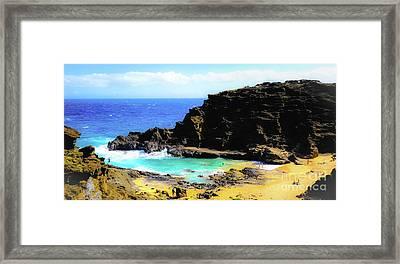 Eternity Beach - Oahu, Hawaii Framed Print