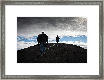 Etna, Red Mount Crater Framed Print