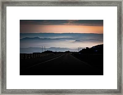 Etna Road Framed Print