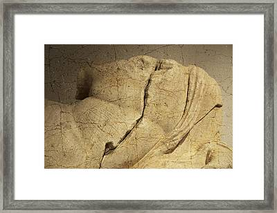 Etruscan Bust In Umbria Framed Print by Marion McCristall