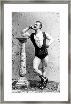 Eugen Sandow 1867-1925 Strong Man Framed Print