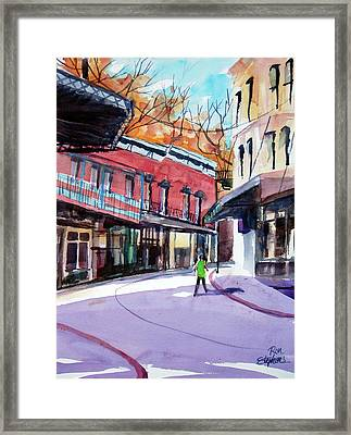 Framed Print featuring the painting Eureka Springs Ak 4 by Ron Stephens