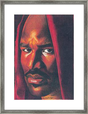 Evander Holyfield Framed Print by Keith Burnette