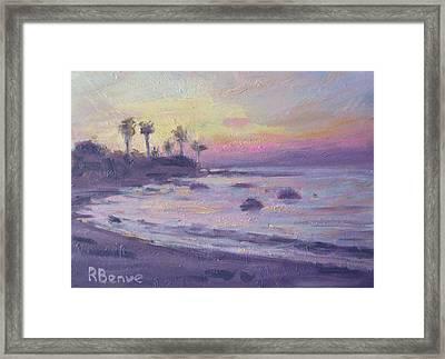Evening Beach Framed Print