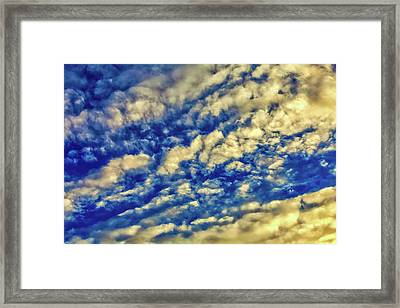 Evening Clouds Framed Print by Garry Gay